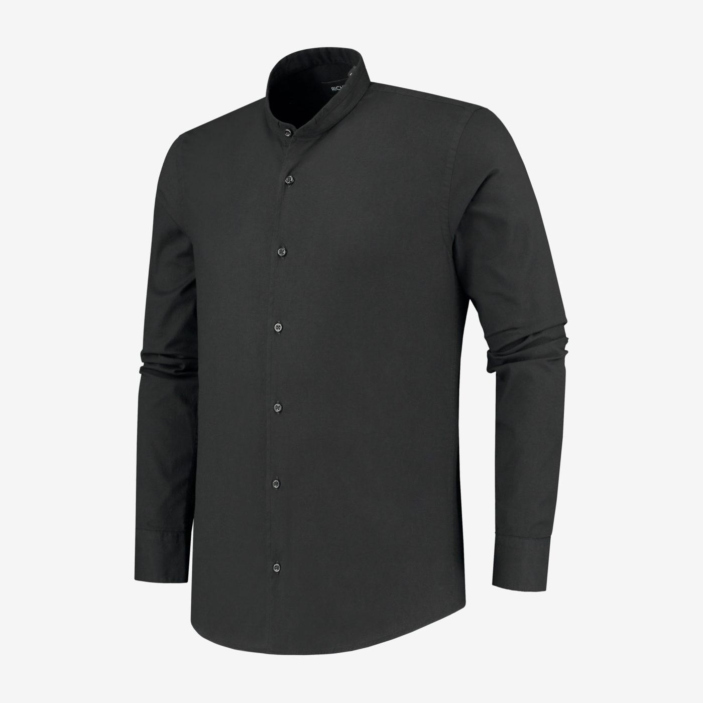 Richesse-Mandarin-Black-Shirt_Side