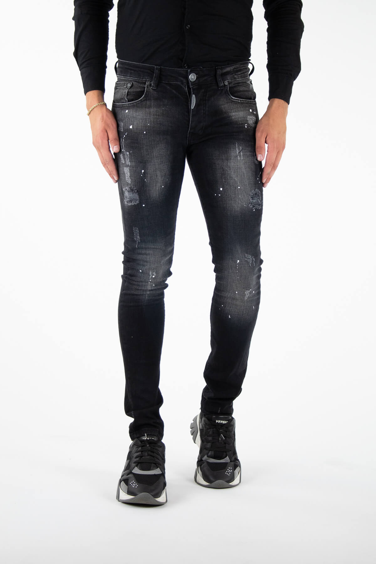 Alicante Deluxe Black Jeans-1