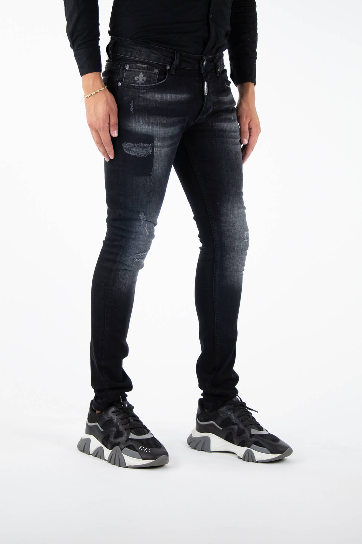 Novara Black Jeans-2