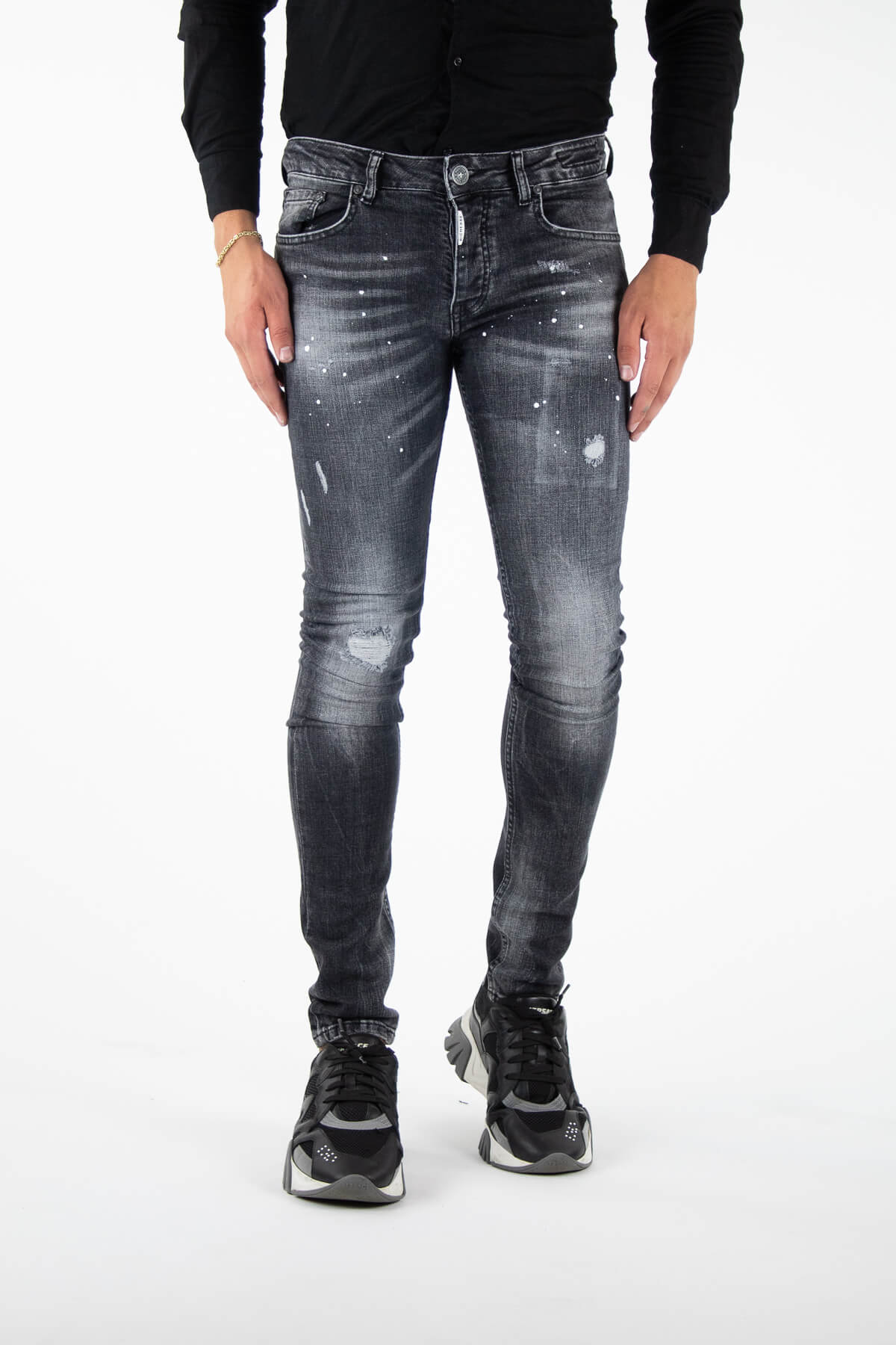 Palencia Deluxe Grey Jeans-1