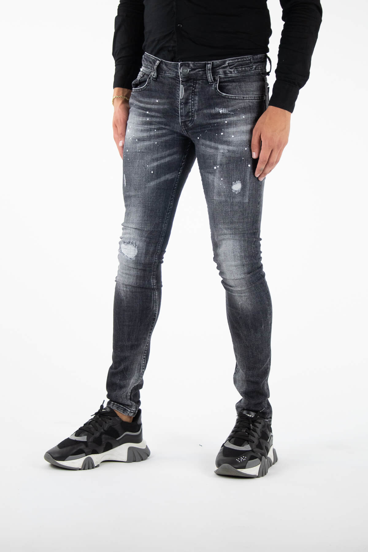 Palencia Deluxe Grey Jeans-3